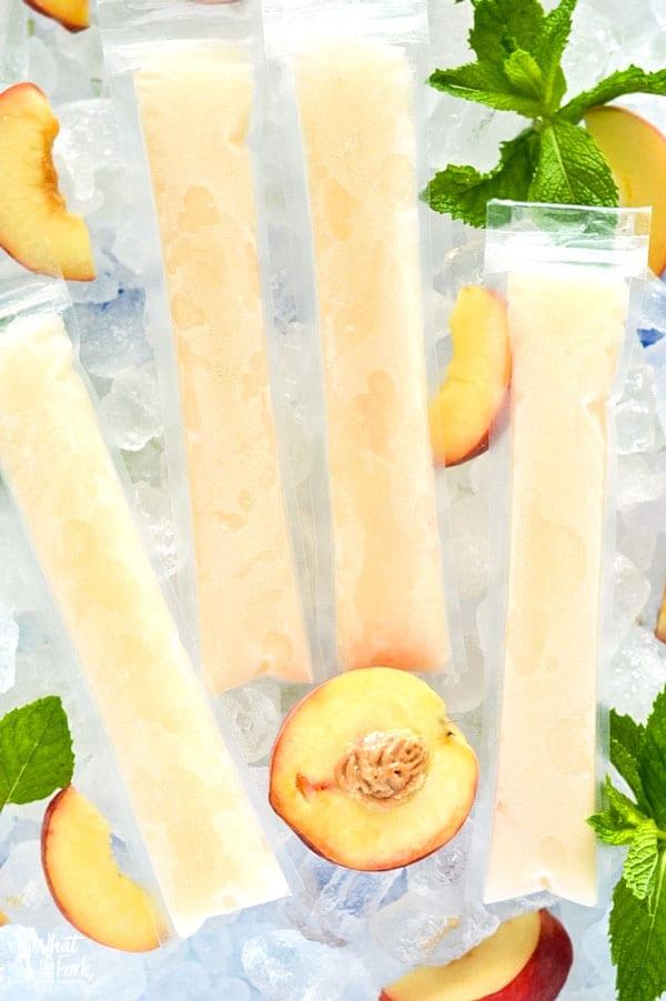 Peach Prosecco Popsicles