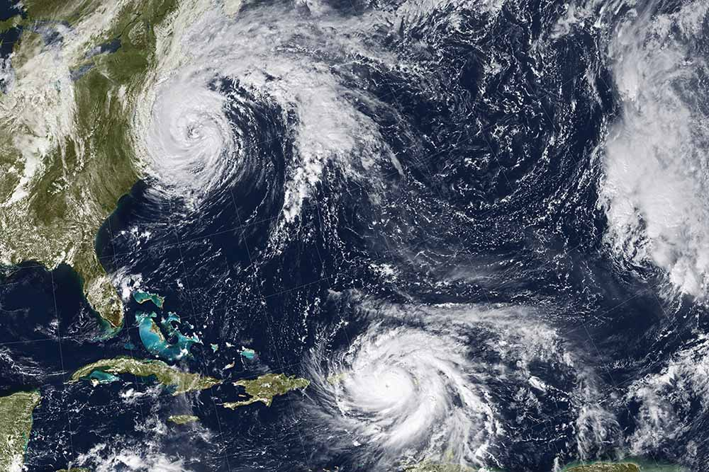 Caribbean Hurricanes. Elements of this image furnished by NASA
